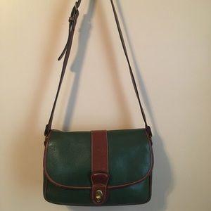 Vintage COACH Pebbled Leather 4225 Flap Bag!
